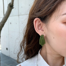 цена на AENSOA New Trendy Design 5 Color C-type Three Layered Drop Earrings For Women Temperament Simple Statement Earrings