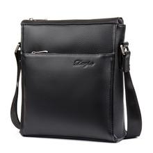 DANJUE Men Messenger Bag 100% Genuine Leather Male Business