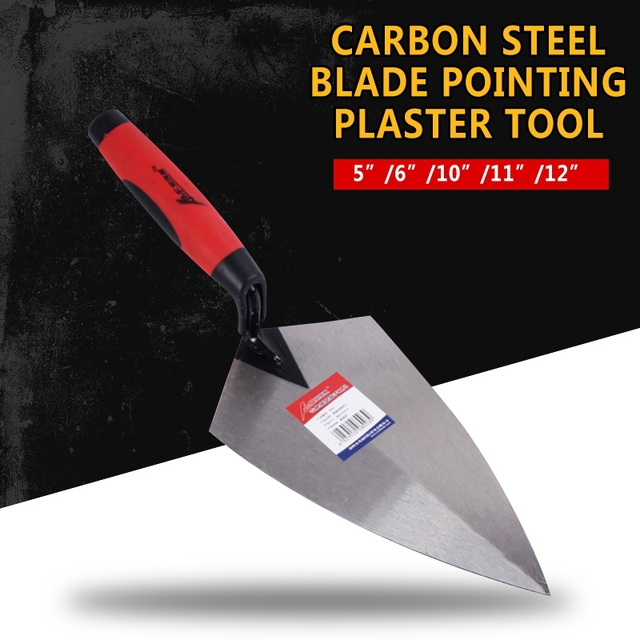 5/6/10/11/12 inch Construction Tools Putty Knife Brick Trowel Laying Carbon Steel Blade Pointing Plaster Tool Carbon Steel