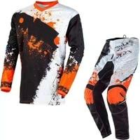 Free Shipping 2020 One Element Impac Motocross Suit Orange MX Jersey Hose Set Pants Jersey Combos Motocross MX Racing Suit
