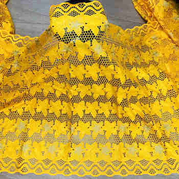 CS African bazin riche fabric with brode Latest fashion embroidery bazin lace fabric with net lace 5 yards for dress bazin brode