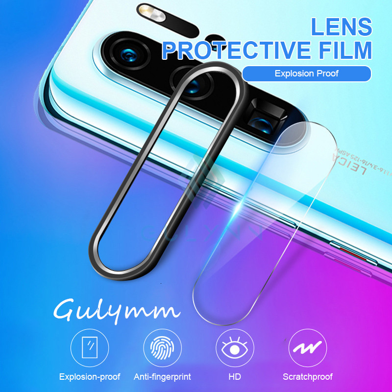 Back Camera Protector On For <font><b>Huawei</b></font> P30 P20 Mate 20 30 Pro Metal Camera Lens Protective Ring Cover HD <font><b>Glass</b></font> Film On <font><b>Honor</b></font> 20 i image