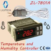 ZL 7801A, Universal, General, controlador de temperatura y humedad, termostato e higrostato, termostato termistato, CE, Lilytech