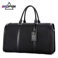BOPAI Neue Entwickelt Business Männer Reisetaschen Unisex Große Handtasche Wasserdicht Männer Duffle Schulter Tasche Frauen Tragen Auf Gepäck Schwarz
