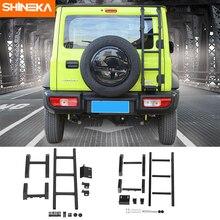 Shineka Beschermende Frames Voor Suzuki Jimny JB74 2019 + Auto Exterieur Achter Deur Achterklep Ladder Accessoires Voor Suzuki Jimny 2019 +