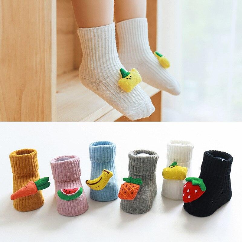 Toddler Baby Socks Anti Slip Cartoon Infant Baby Socks For Girls Cotton New Born Baby Boy Socks Suitable For 0-3 Years Old