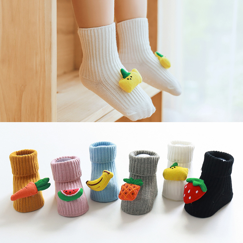 Toddler Baby Socks Anti Slip Cartoon Infant Baby Socks For Girls Cotton Newborn Baby Boy Socks Suitable For 0-3 Years Old