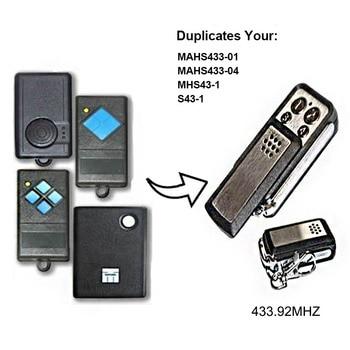 10 X  MAHS433-01,MAHS433-04,MHS43-1,S43-1 fixed code compatible remote control  433mhz