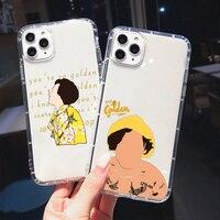 Harry Styles-funda a prueba de golpes para teléfono móvil, carcasa blanda a prueba de golpes para Iphone 12Pro 11 SE2 X 6 7 8 Plus XS XR XS 11Pro 12Pro Max