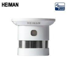 Nova heiman z-onda detector de fumaça zwave casa inteligente ue 868.42mhz onda z sensor de alarme de incêndio para segurança casa inteligente frete grátis