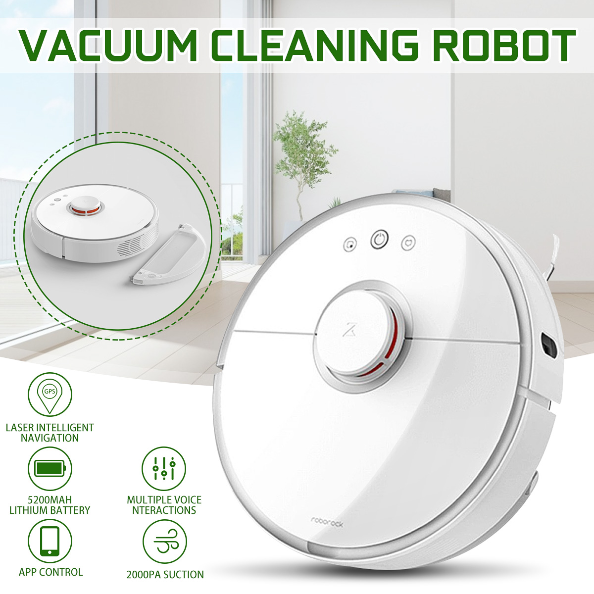 Roborock S50 XIAOMI Vacuum 2 Cleaner Smart Planned Wifi Wet Dry MIJIA Robot Home Automotic Sweeping Dust Sterilize Washin