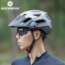 Велосипедный шлем ROCKBROS, дышащий шлем из пенополистирола для горных и шоссейных велосипедов, цельнолитой, многоцветная защита головы, обору...