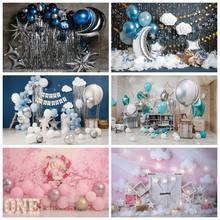 Laeacco – ballons muraux en ciment, arrière-plan pour photographie de fête d'anniversaire, pour Portrait de bébé, pour garçons et filles, pour Studio Photo