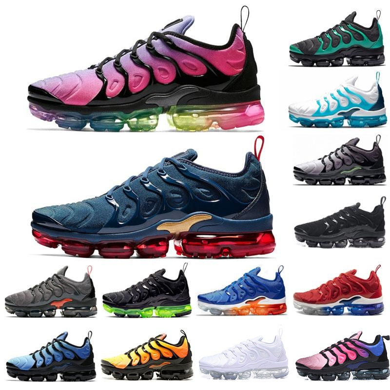 2020 Tn designer shoes Bumblebee Olympic Plus Running Shoes Blue black volt Grape be true Game Royal Mens Women Sports Sneakers
