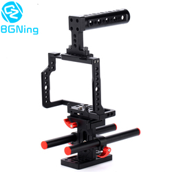 BGNing Aluminum Cage for Panasonic G80 / G85 Camera w/ Top Handle SLR Rig Mount Rail Rod Support System Photography Accessories