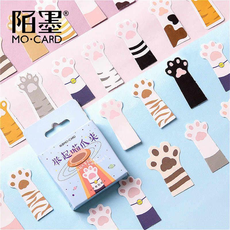 45 unids/caja papelería pegatinas de mascotas gato DIY planeta papel adhesivo Kawaii animales paisaje decoración pegatinas álbum de recortes diario