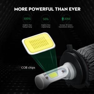 Image 2 - Partol H4 H7 H11 H1 araba LED far lambaları 72W LED 9005 9006 H3 9012 H13 5202 COB otomobil sis kafa lambası ışığı 6500K 12V 24V