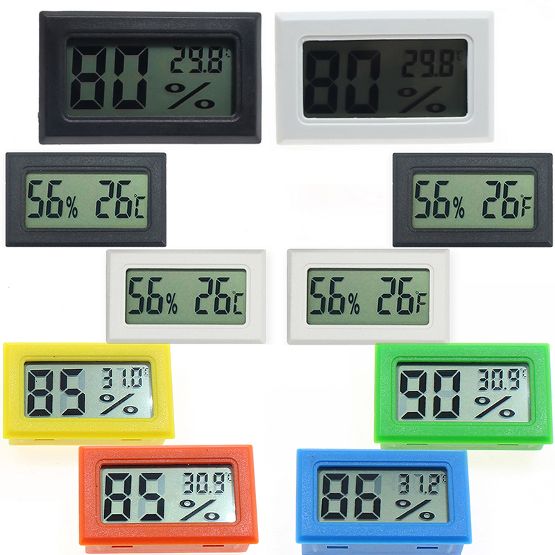 Mini Humidity Sensor LCD Backlight Temperature Instruments Thermostat Weather Station Digital Thermometer Outdoor