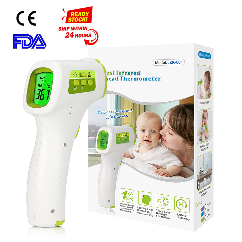 In Stock Handheld Infrared Body Thermometer Portable LCD Digital Display Non-contact Forehead Thermometer Tools For Baby/Adult