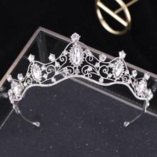 Wedding Tiaras For Brides Crystal Crown Baroque Bride Hair Accessories Pageant Crown Headpiece Crystal Tiara Hair Jewelry