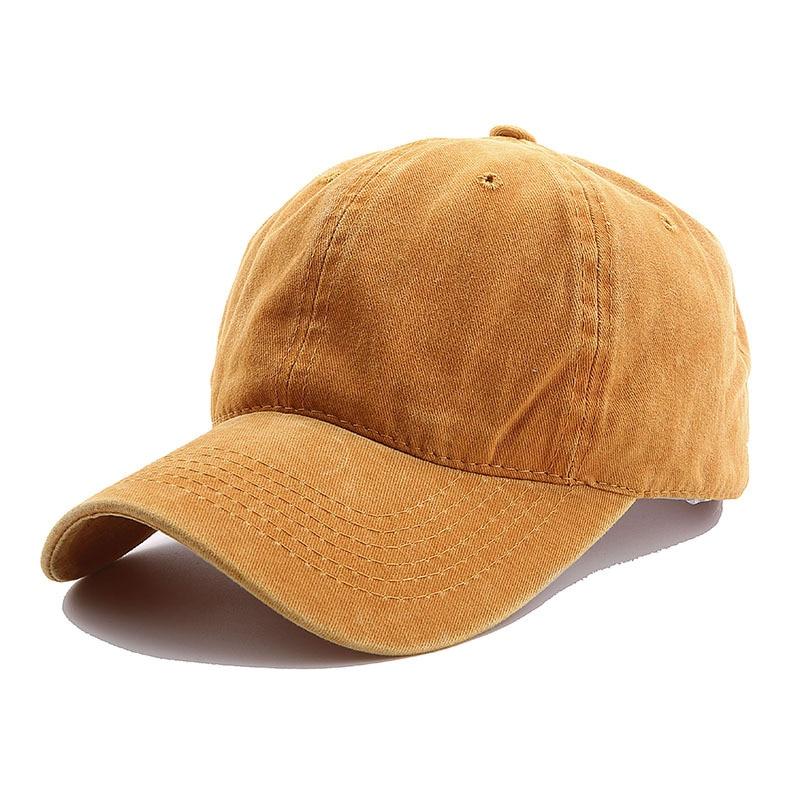 Solid Spring Summer Cap Women Ponytail Baseball Cap Fashion Hats Men Baseball Cap Cotton Outdoor Simple Vintag Visor Casual Cap 11