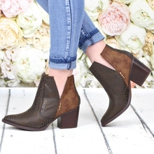New Print Pu Women Ankle Boots Pointed Toe Footwear Thick High Heels Female Boot Shoes Women Bootie Fashion Ladies Shoes недорого