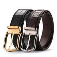 Real Crocodile Belts for Men Alligator Genuine Leather Luxury Brand Strap Male Buckle Belt Vintage for Jeans Cintos Dropshipping