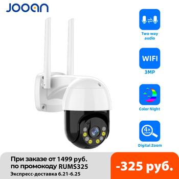 3MP PTZ WIFI IP kamera zewnętrzna 4X Zoom cyfrowy noc kolorowy bezprzewodowy H 265 P2P bezpieczeństwo kamera telewizji przemysłowej dwukierunkowy dźwięk tanie i dobre opinie JOOAN Q7 JA-F10R-4-U Szybkoobrotowa kamera kopułkowa Windows 7 windows10 3 0 MP 3 6mm Kamera typu BOX Przez IP sieć bezprzewodową