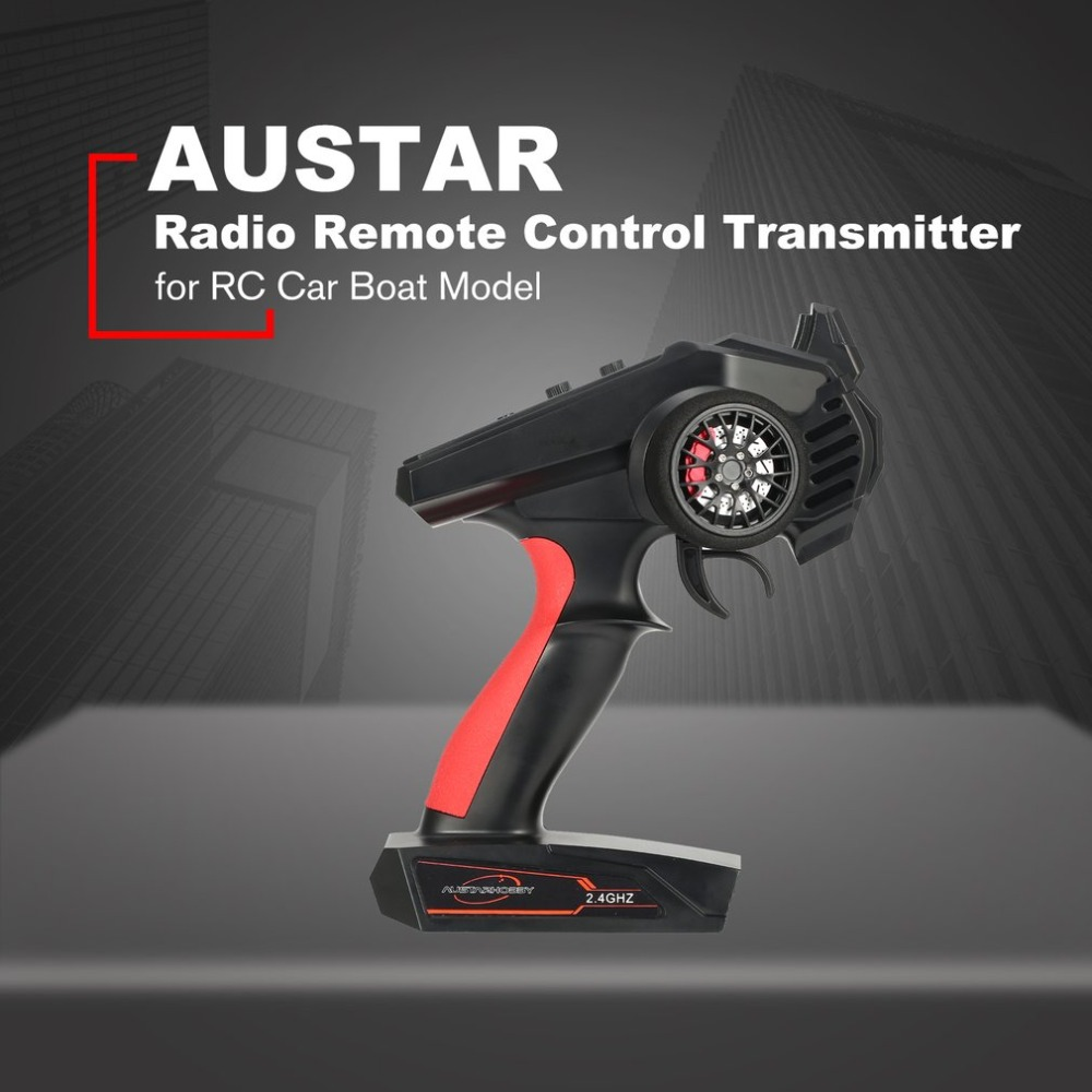 AUSTAR 2.4 4CH Radio Remote Control RC Transmitter with AX6s Receiver for RC Car Off-road Vehicle Boat RC Truck Model image