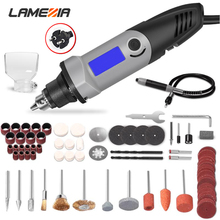 LAMEZIA 400W Small Electric Drill Mini Grinder Variable Speed Grinding Tool With Engraving Accessories