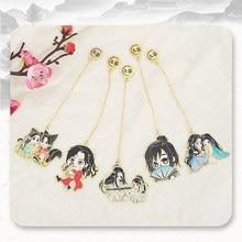 Anime Mo Dao Zu Shi Cosplay The Untamed Lan Wangji Tian Guan Ci Fu Couples Bookmarks Metal Books Mark Toy Gifts For Girls CS310