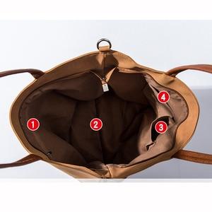 Image 5 - デザイナーバッグラージトート革の女性のハンドバッグショルダーバッグ女性 2020 ファッションパッチワークレザーレディースハンドバッグバッグ黒