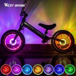 Smart LED Sepeda Roda Lampu Sepeda Depan Belakang Hub Berbicara Satu Lampu dengan 7 Warna 18 Mode Isi Ulang Anak-anak Keseimbangan lampu Sepeda