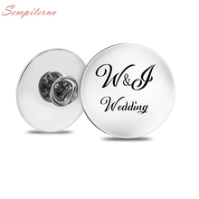 Custom Brooch Photo Engraved Wedding Designed Logo Photo Gift For Family Anniversary Collar Pins