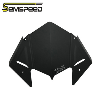 SEMSPEED Motorcycle For Yamaha T-MAX 530 TMAX530 2017-2019 CNC Windshield Windscreen Cover Aluminum Alloy Wind Shield Deflectore