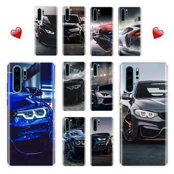 Blue Red Bmw Case For Huawei P40 P30 P20 P10 Lite Pro Phone Cover For Huawei P Smart Plus 2018 2019 Z Mate 10 20 30 Lite Back Co image