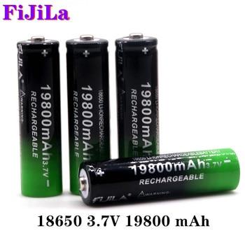 Batería de ion de litio recargable, 2 ~ 20 piezas, 18650 V, 3,7 mAh, linterna LED para, Nueva de Alta Calidad, novedad de 19800
