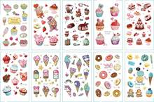 10 sztuk tymczasowe tatuaże słodkie lody na lato fałszywy tatuaż naklejki Tatoo wodoodporna Tatto ręcznie stóp tatuaże do ciała dla dzieci dziewczyna chłopiec