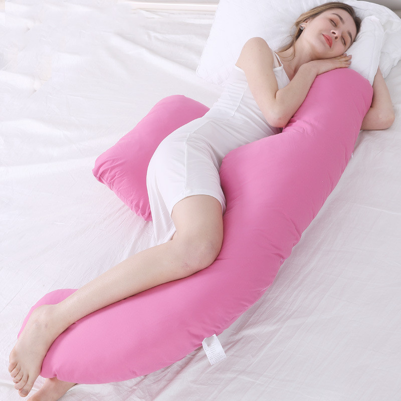 Soft Cotton Pregnancy Pillow U Shape Support Pillow For Maternity Pregnancy Side Sleepers Pillows Cushion Coussin Femme Enceinte