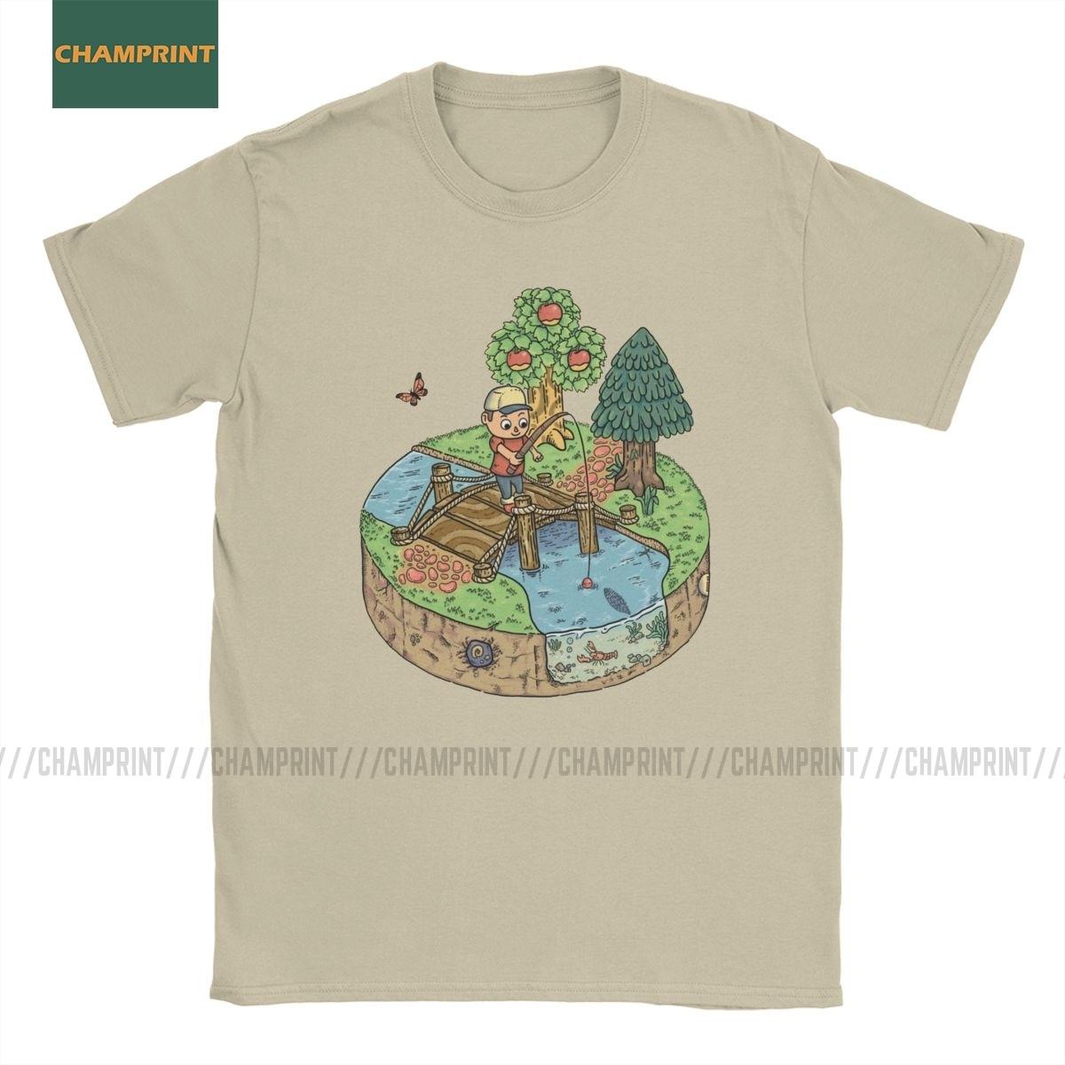 Men's T-Shirts New Leaf Animal Crossing Cotton Tee Shirt Short Sleeve Game Acnl Roost Wild Slider KK T Shirt Round Collar Tops