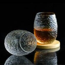 20 adet ipekböceği koza eski moda viski bardağı çekiç desen manuel kristal sanat Verre viski kaya gözlük bira şarap bardağı