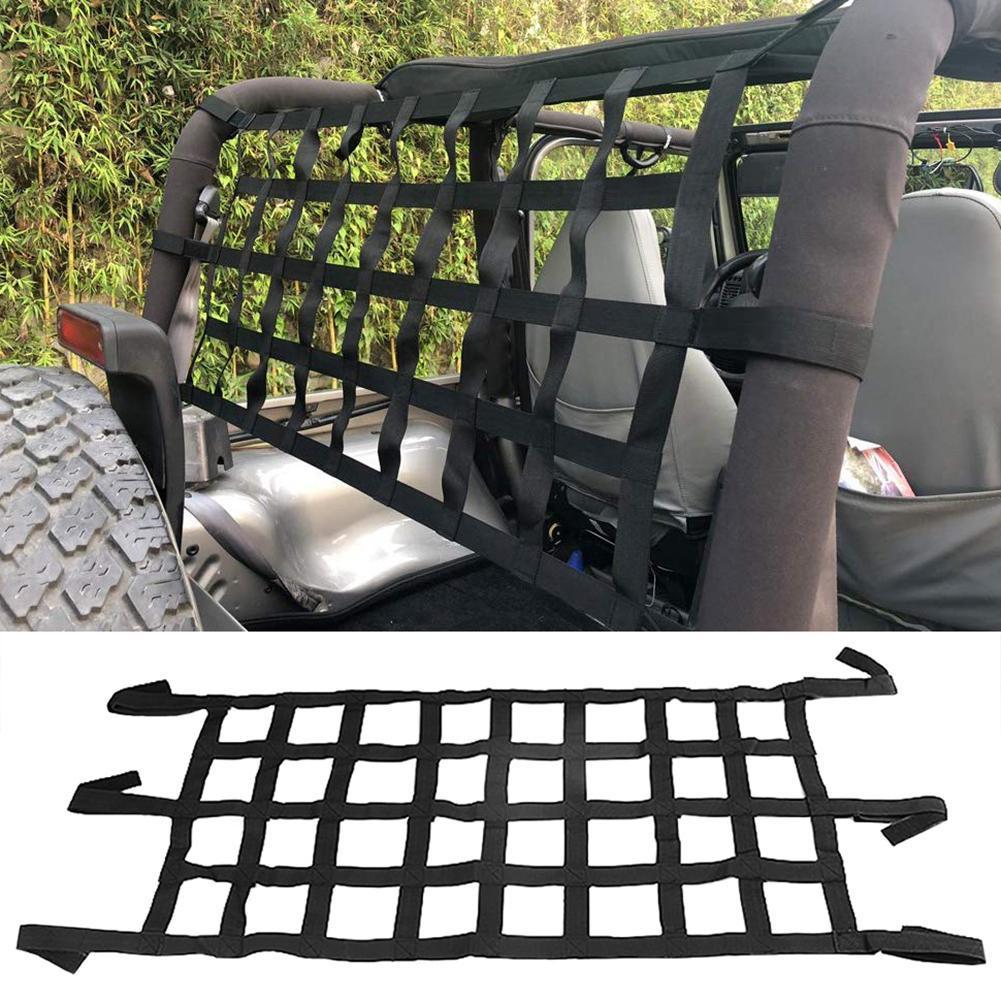 Car Auto Roof Rear Cargo Luggage Mesh Storage Net Holder Hammock for Wrangler
