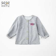 HHTU Baby Jacket Cardigan Summer Autumn Boys Girls Clothes Tops Coats Toddler Kids Long Sleeve Solid Button Outwear