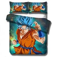 Anime Dragon Ball Z 3D Printed Bedding Set Duvet Cover Pillowcases Comforter Bedding Sets Bedclothes Bed Linen (NO Sheet)