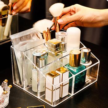 Wielofunkcyjne pudełko do przechowywania kosmetyków stojak na pędzelki do makijażu akrylowe przezroczyste pudełko na artykuły biurowe akcesoria łazienkowe obsadka do pióra tanie i dobre opinie CN (pochodzenie) 5655 Z tworzywa sztucznego Ekologiczne Na stanie Skrzynki i pojemniki 100 kg Nowoczesne Błyszczący Rectangle