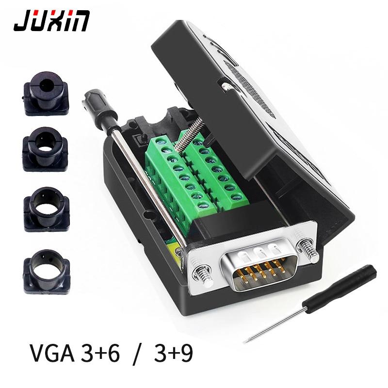 2 шт., штырьковые разъемы HDB15, VGA, 3 ряда, 15-контактный разъем, разъём для компьютерных мониторов, ТВ-проектор, видеоразъем VGA