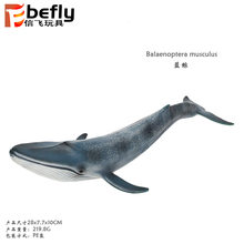 New Products 28 Cm Children Model Solid Oceans Animal Blue Whale Shark Animal Model Toy(China)