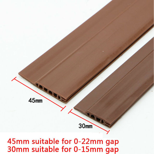 Adhesive Under Door Sweep Weather Stripping Soundproof Rubber Bottom Seal Strip 2