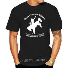 New TEXAS PRISON RODEO Pro Vintage Gear Cowboy T-Shirt SS Houston PBR Black