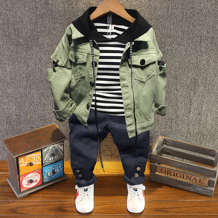 Children Clothing Boys Sets Spring Costume Kids Clothes Toddler Baby Boys Clothes Sets Cotton Boys Sport Suits 2-6years
